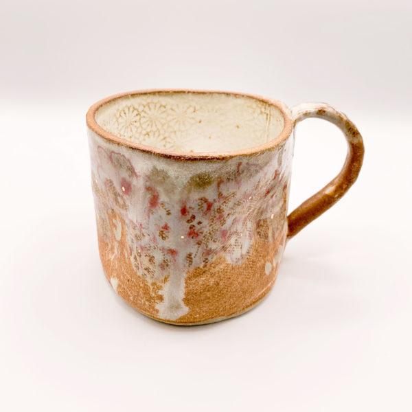 Julie Spako Navy and Orange Ceramic Mug