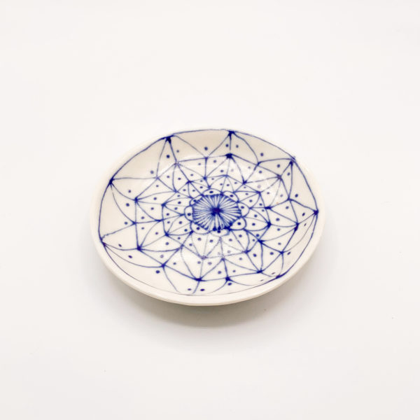 Julie Spako Navy and White Porcelain Plate