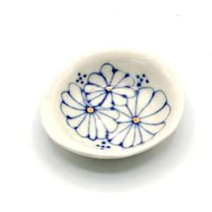 Julie Spako Blue and White and Gold Small Catch-All Dish