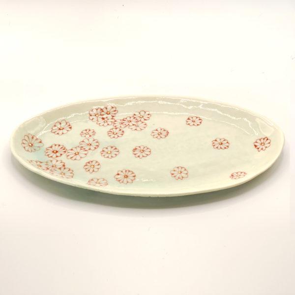 Julie Spako Green and Red Porcelain Medium Plate