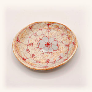 Julie Spako Red and White Small Circle Plate