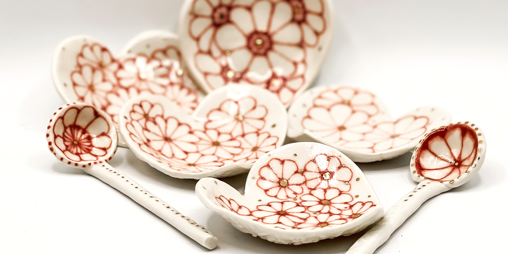 Julie Spako Clay Heart Dishes